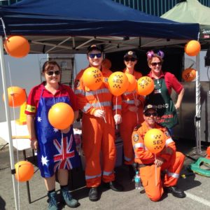 SES volunteers at Willetton Bunnings Great Aussie BBQ